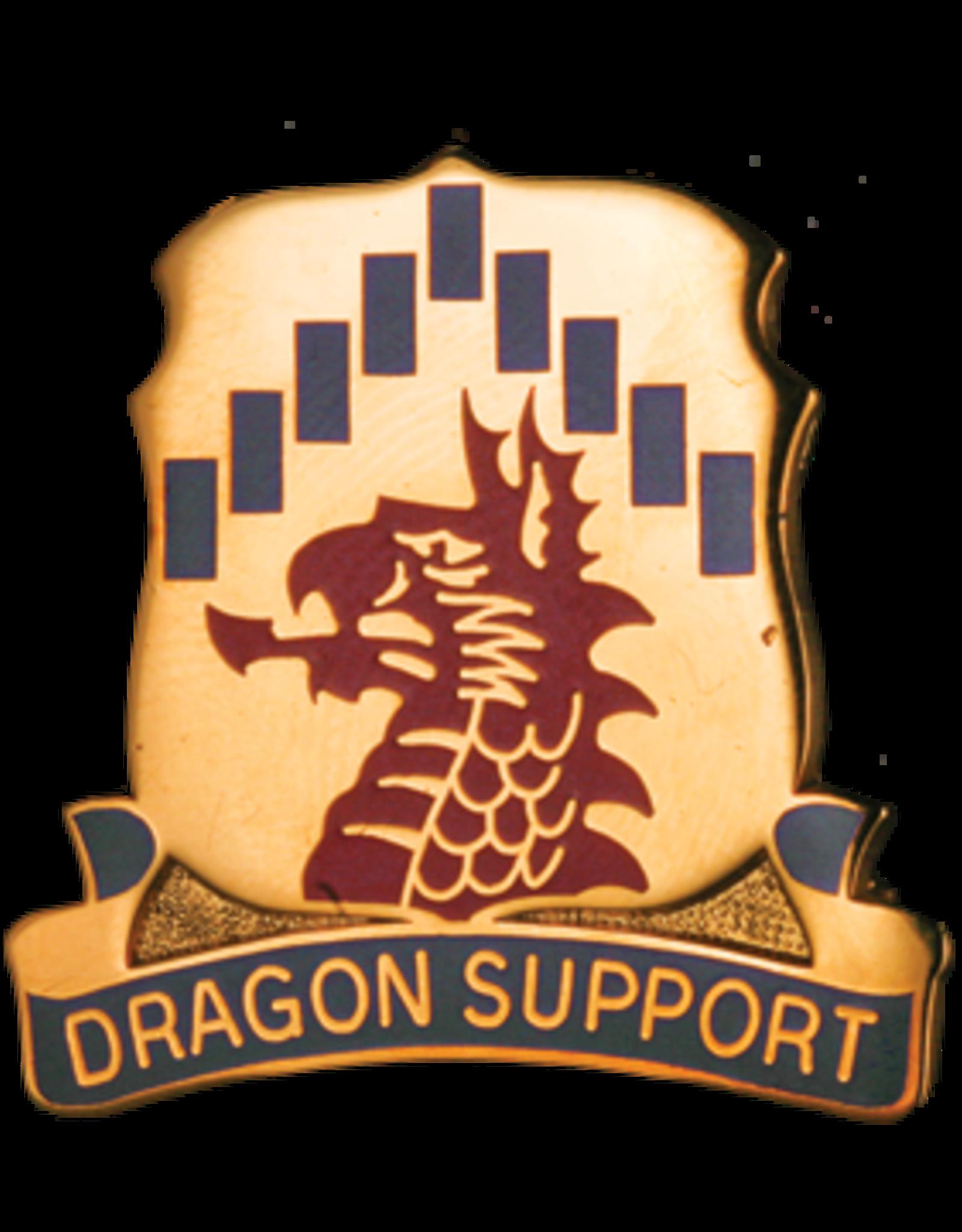601st Support Battalion Unit Crest - Dragon Support