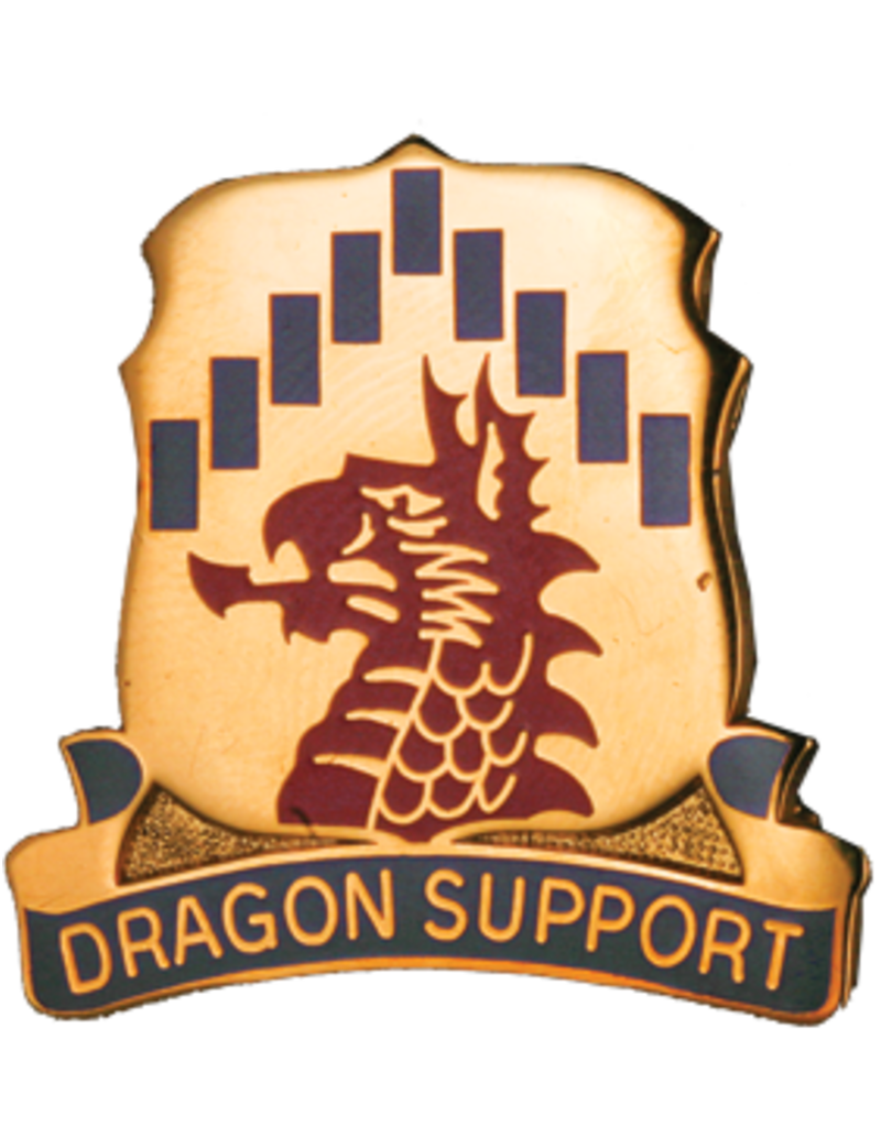 601st Support Battalion Unit Crest - Dragon Support