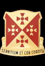 701st Support Battalion Unit Crest - Servitium Et Cor Cordis
