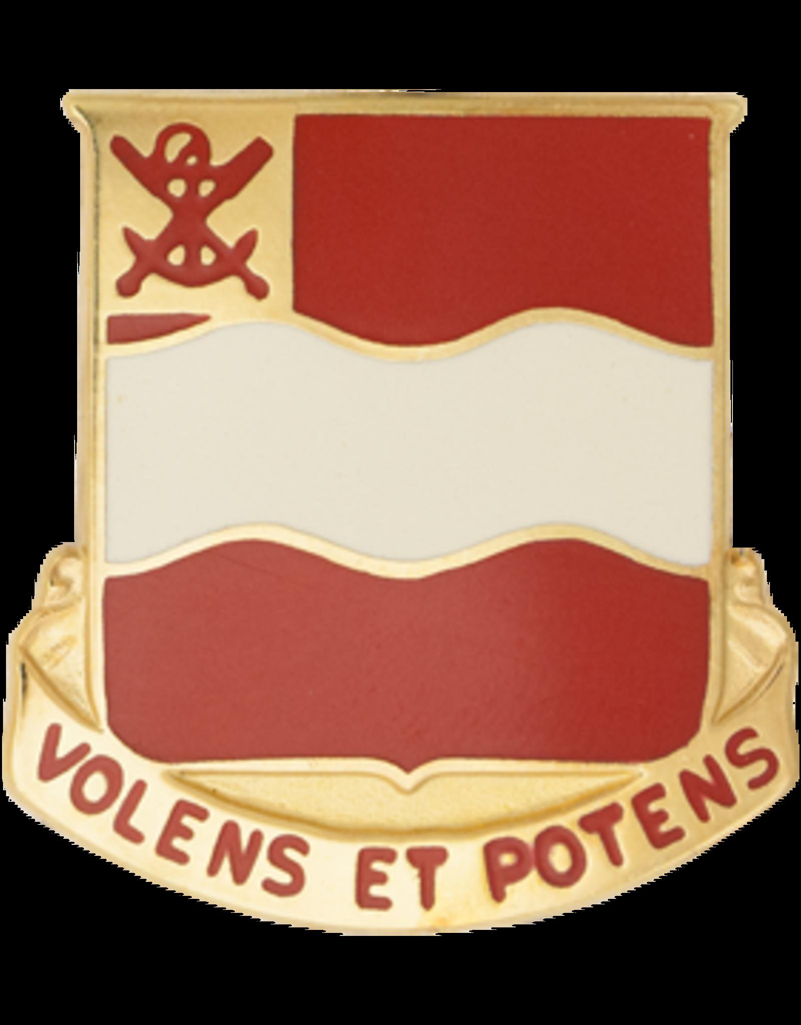 4th Engineer Unit Crest - Volens Et Potens
