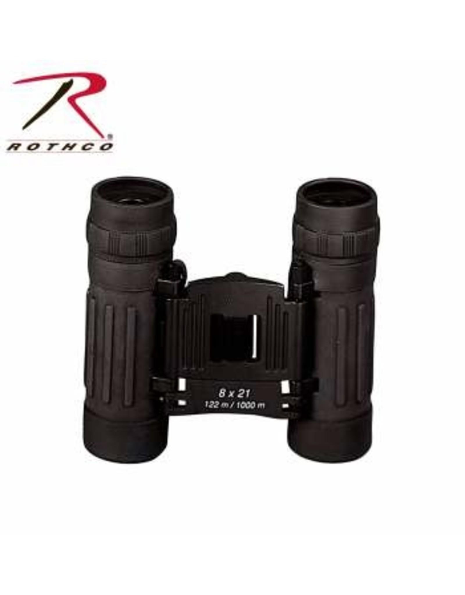 Compact 8 x 21mm Binoculars - Black