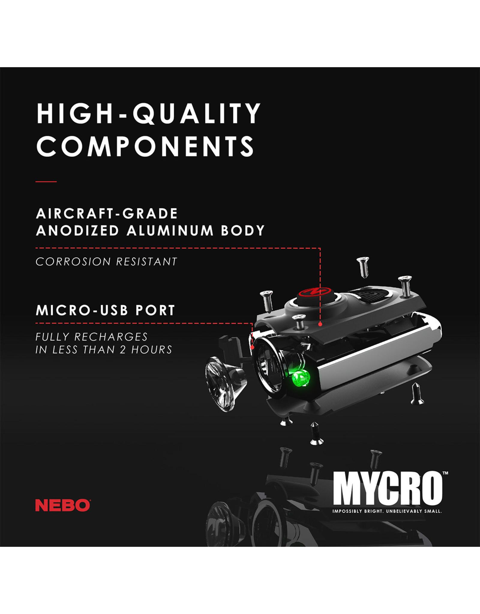Mycro Pocket Light 400 Lumens 6 Modes 3 Color
