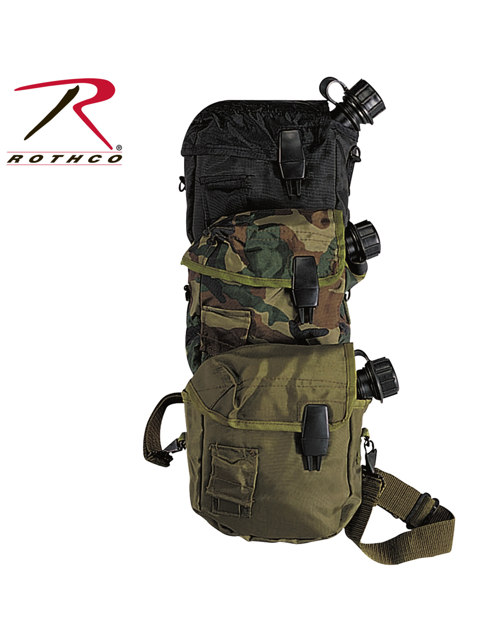 Rothco 2 QT Canteen Cover with Alice Clips