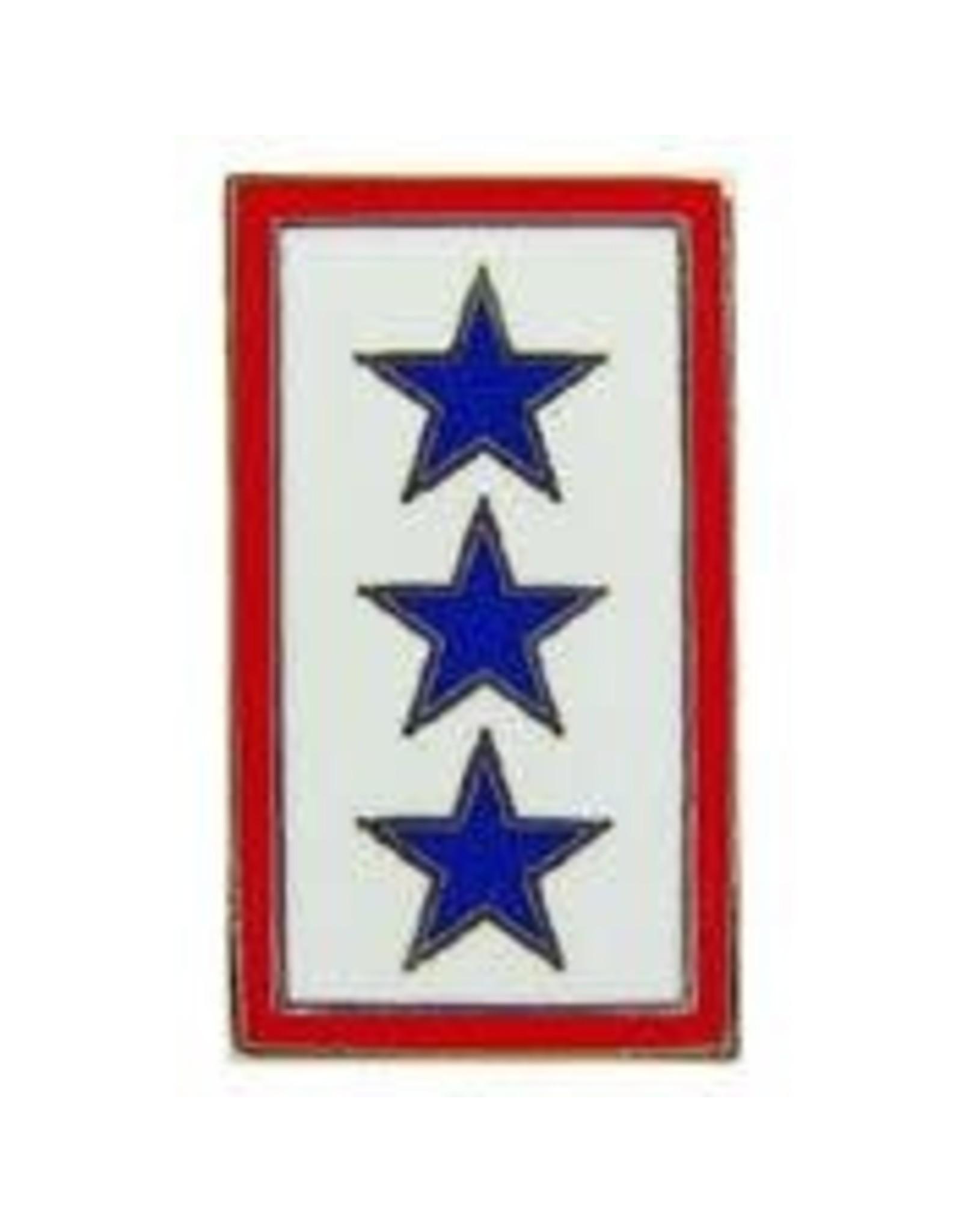 Pin - Family Member in Service 3 Blue Stars