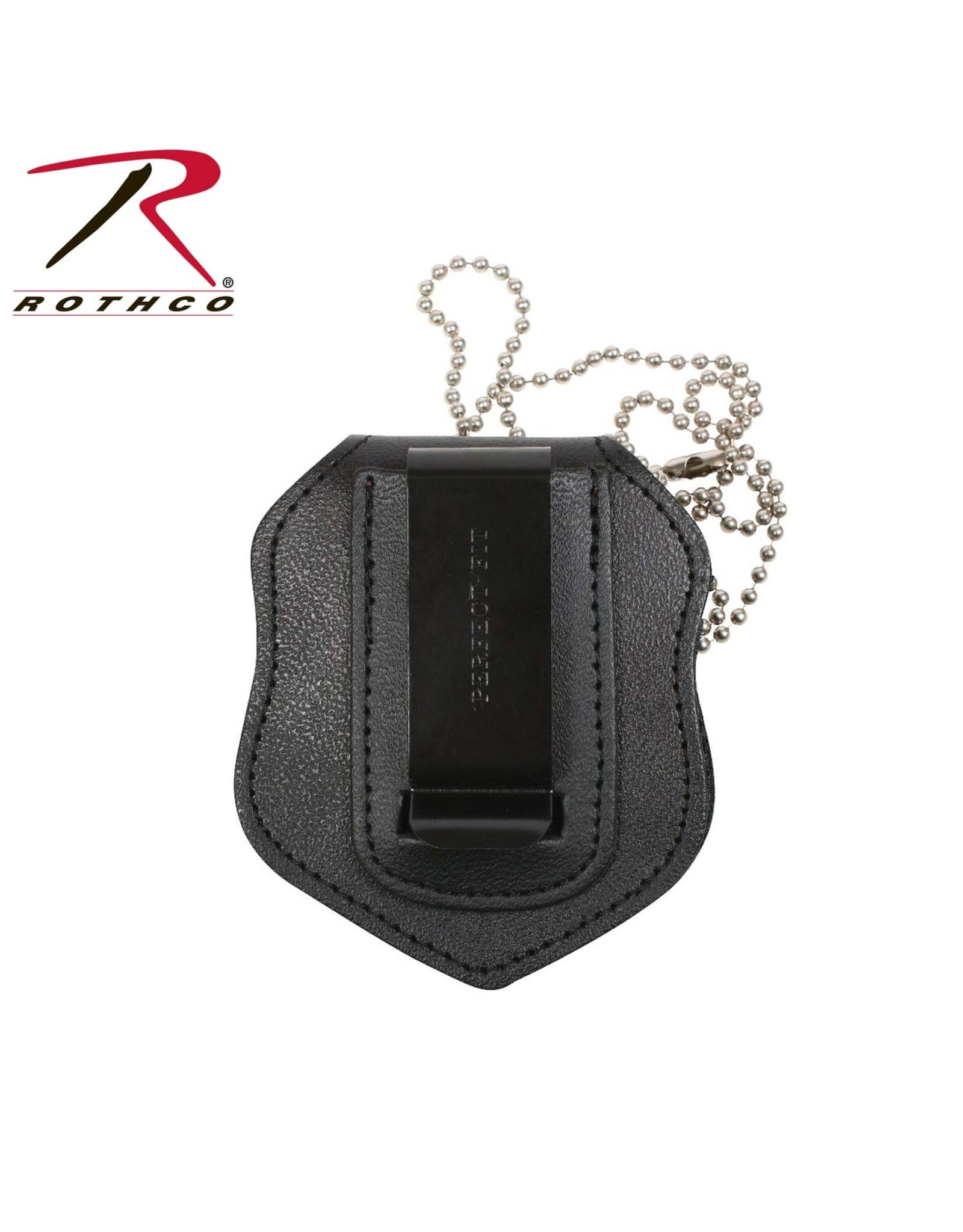 Rothco Badge Holder W/ Clip & Chain