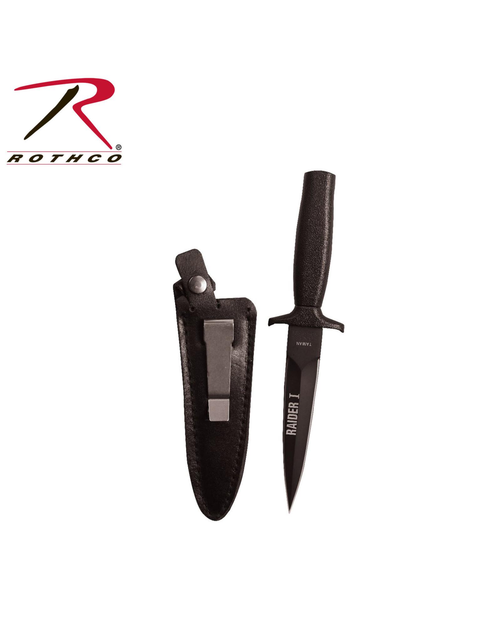 Rothco Black Matte Raider I Boot Knife