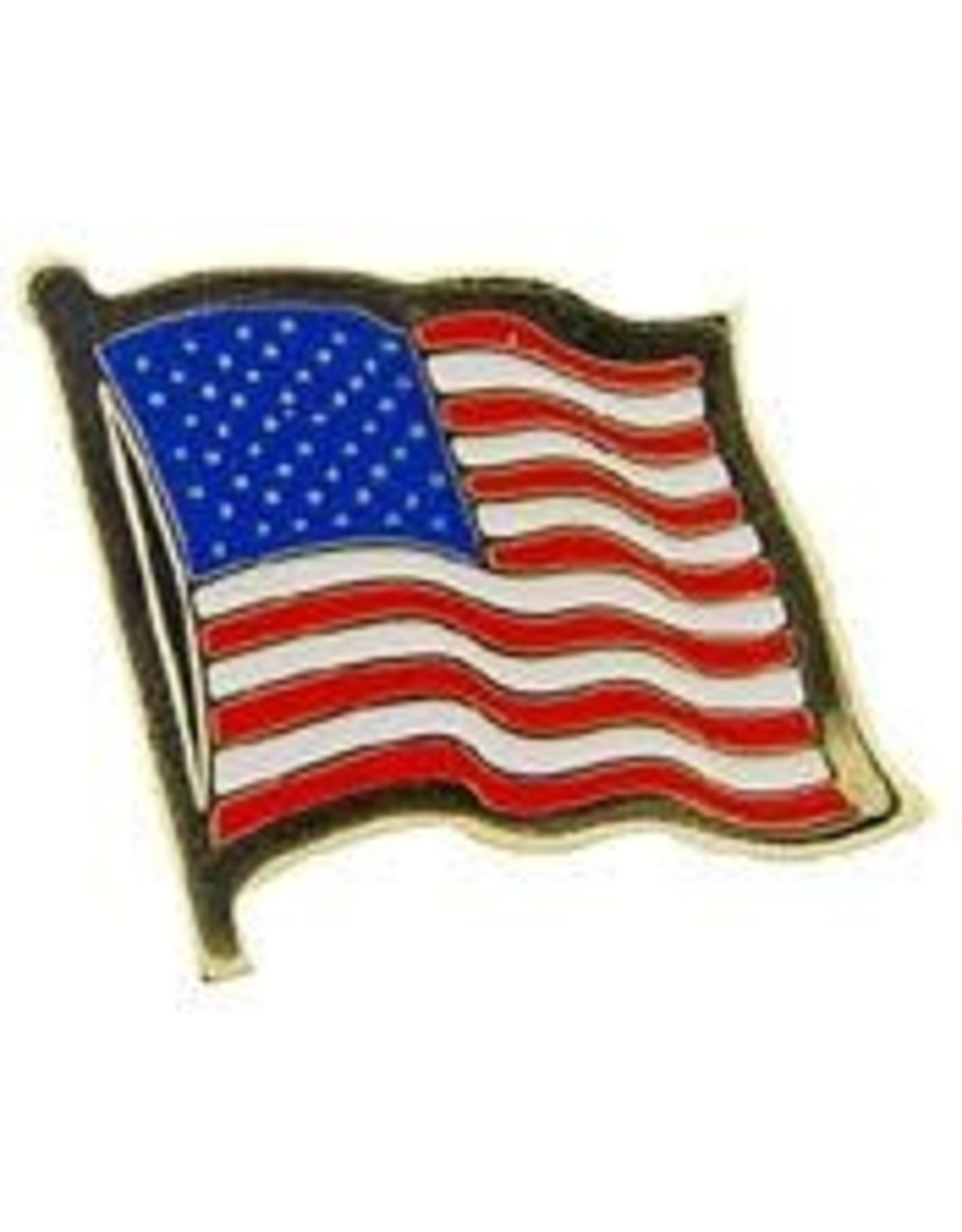 Pin - USA Flag Wavy I