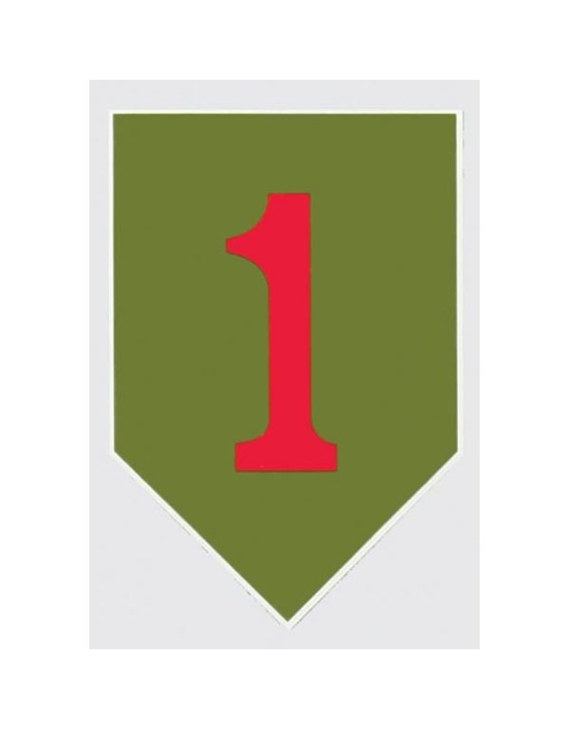1st Infantry Division Big Red One Decal