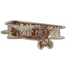 "Pin - Airplane Rickenbacher Bi-Plane (1-5/8"")"