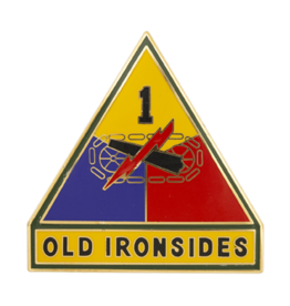 "1st Armor ""Old Ironsides"" Dress Blue ID Badge"