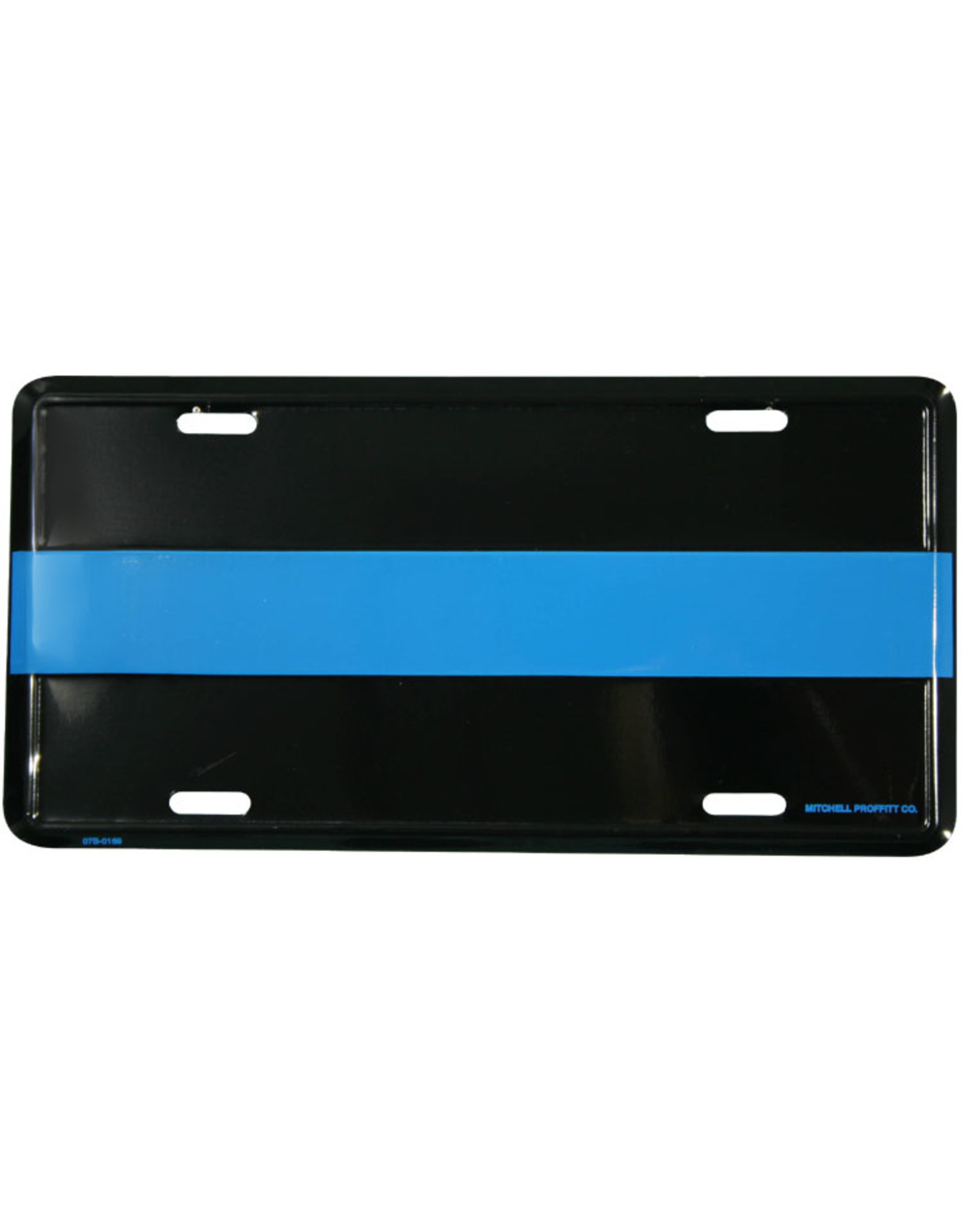 License Plate - Blue Line