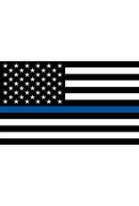 Flag - 3'x5' - Police Blue Line