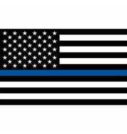 Flag - 3ftx5ft - Police Blue Line