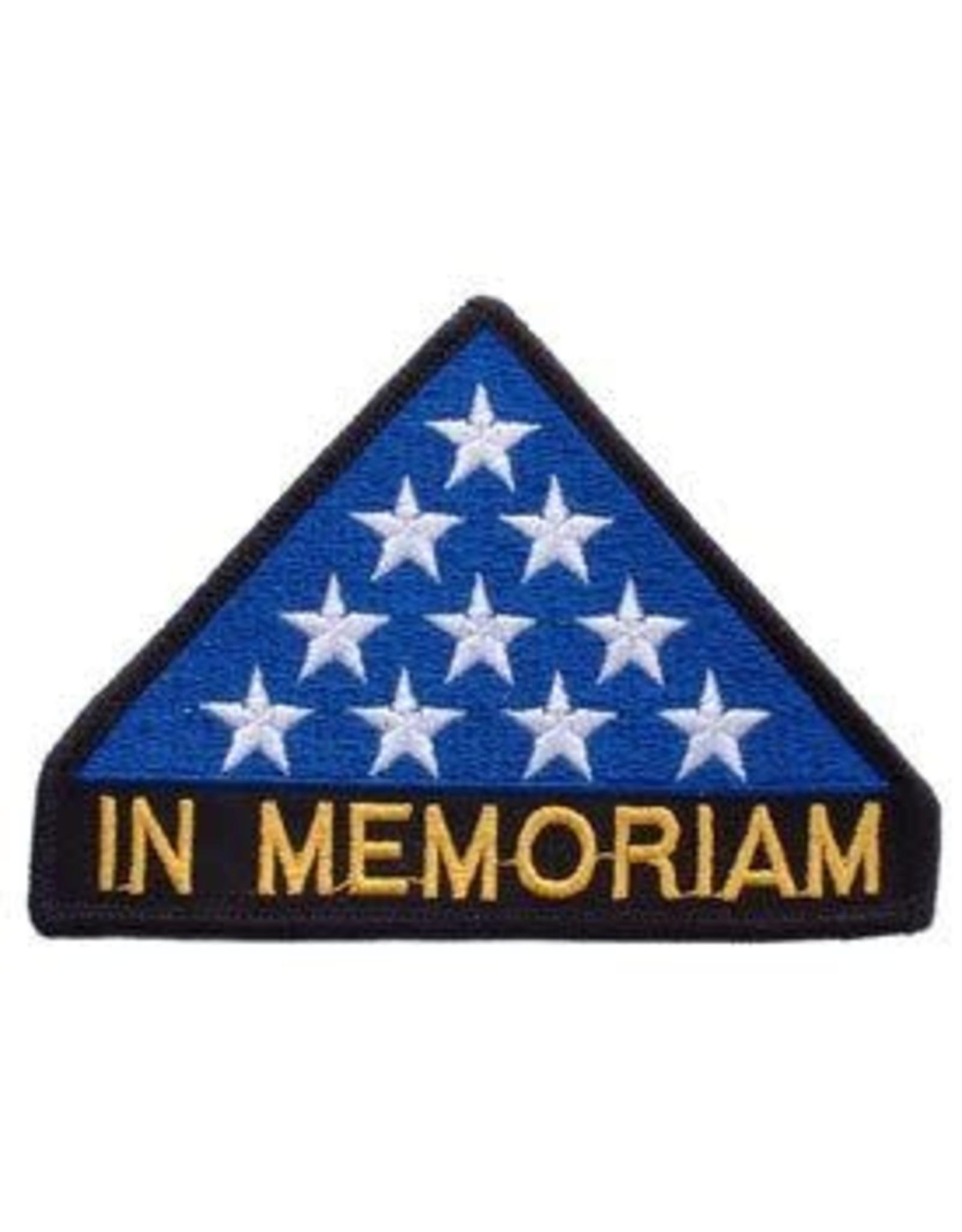 """Patch - Memorial Flag """"In Memoriam"""""""