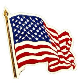 Magnet - USA Flag, Wavy 2-3/4""