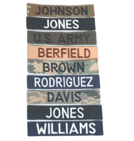 Name Tape W/ Hook Fastener