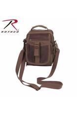 Canvas & Leather Shoulder Bag Brown