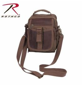 Canvas & Leather Shoulder Bag Brown