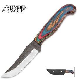 Timber Wolf Custom Milled Pakkawood Knife