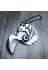 Mini Coin Keychain Kerambit Folding Knife