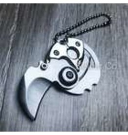 Mini Coin Keychain Kerambit Folding Knife