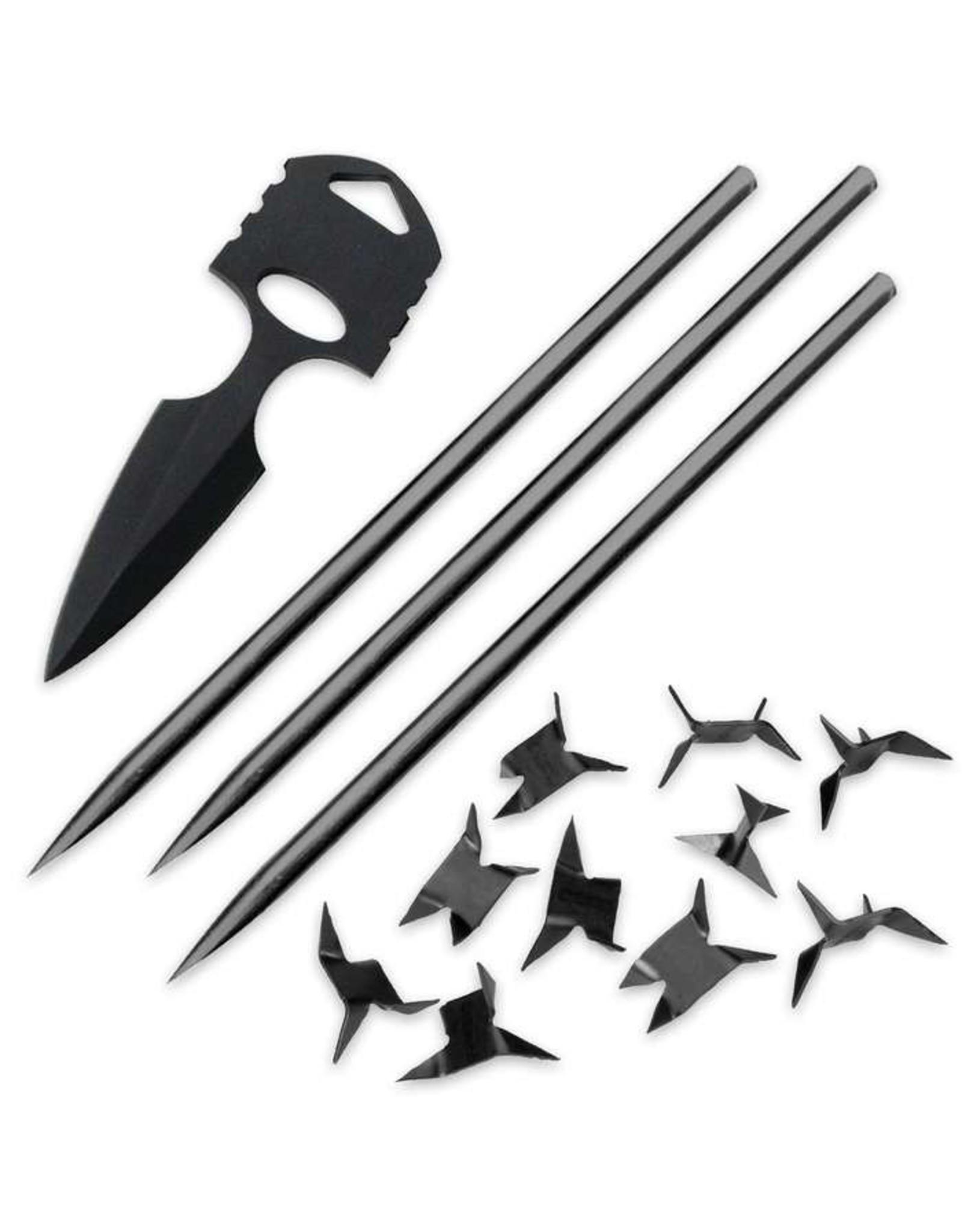 "Black Legion Ninja ""Bag of Tricks"" w/ sheath"