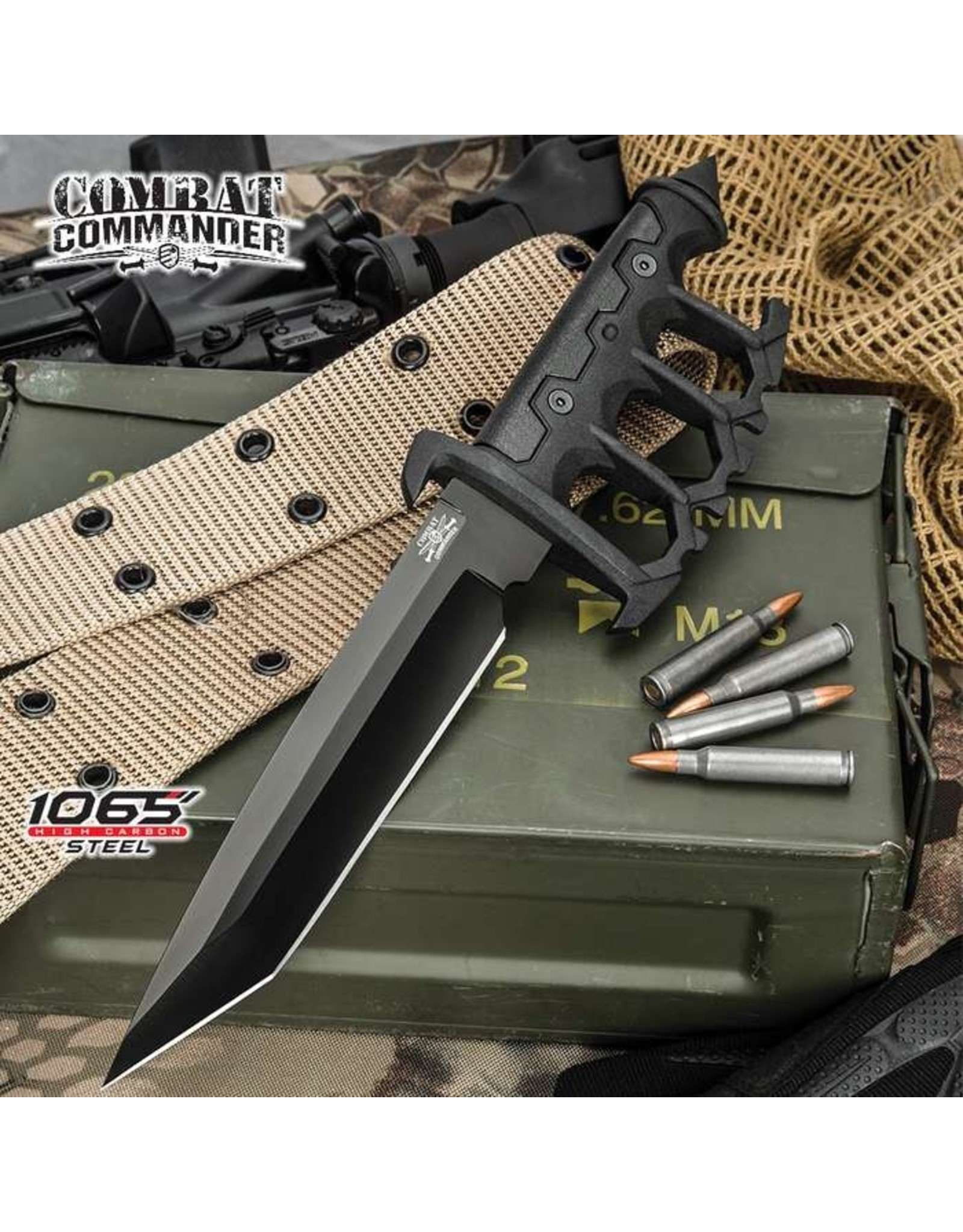 Modern Trench Knife w/ Sheath - Black