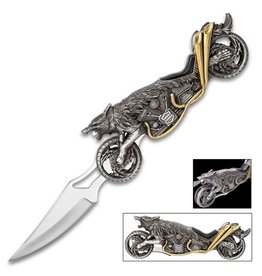 Raging Wolf Motorcycle Pocket Knife