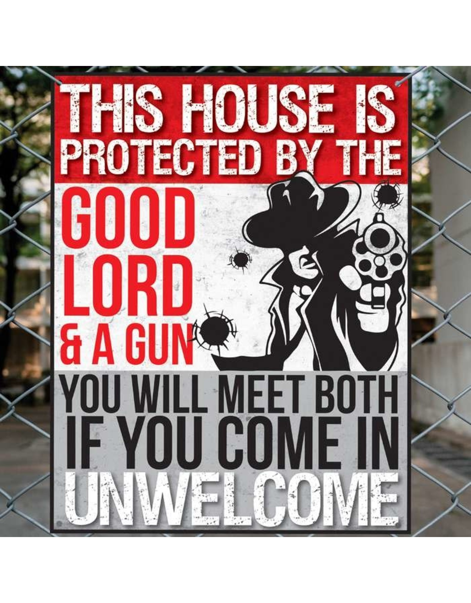 This House Protected by God Sign