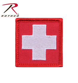 Morale Patch - White Cross Red Background