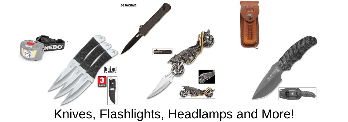 Knives, Flashlights, Stun Guns and More!