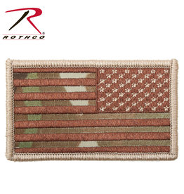 Rothco Reverse US Flag Patch Multicam