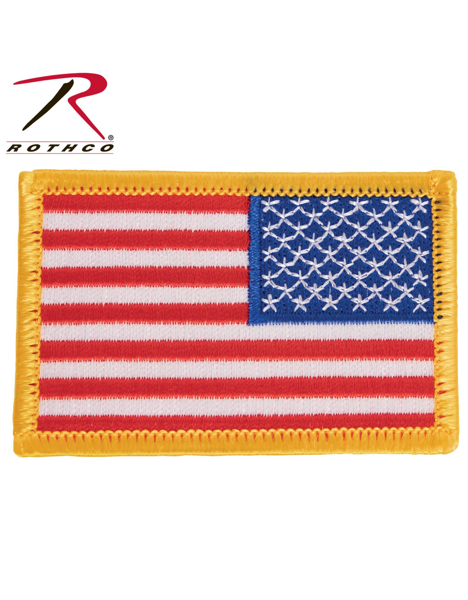 Reverse US Flag Patch USA RWB