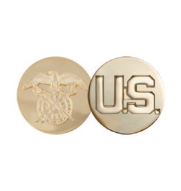 Enlisted Pin - Quartermaster and US Gold