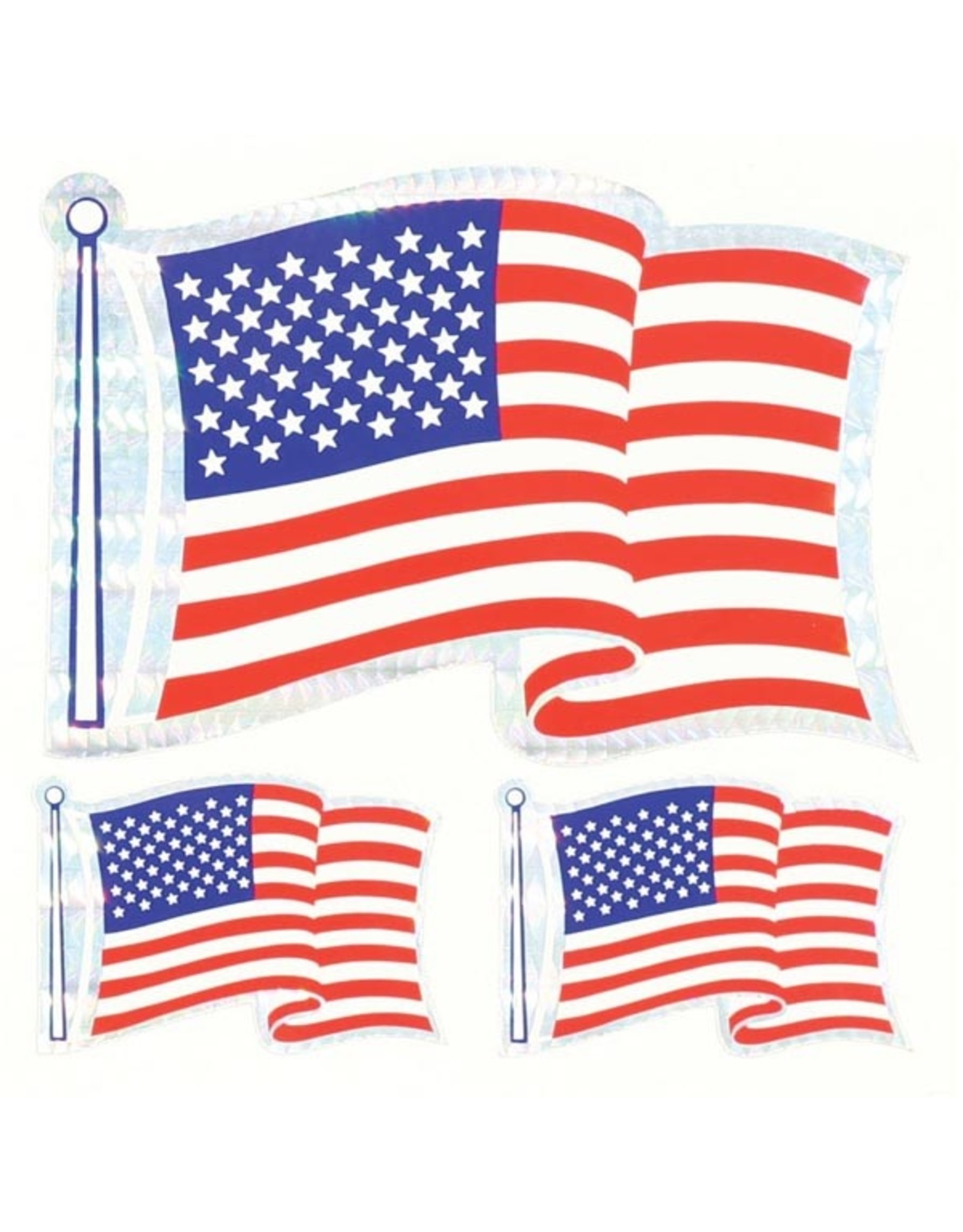 Decal - Wavy Flag - 3 Pack