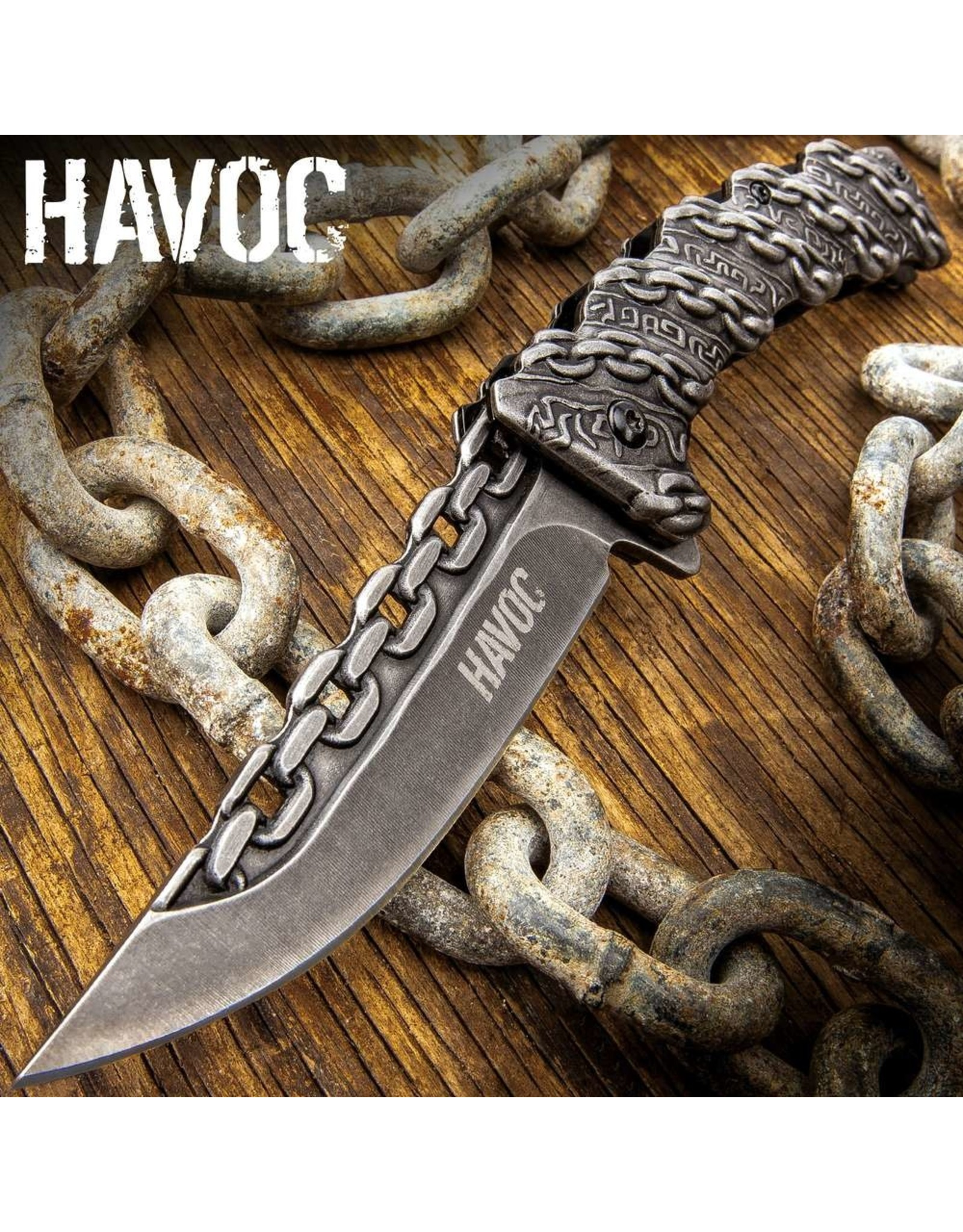 Havoc Chain Link Assisted Opening Pocket Knife