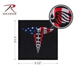 Morale Patch - Caduceus Medical Symbol Flag