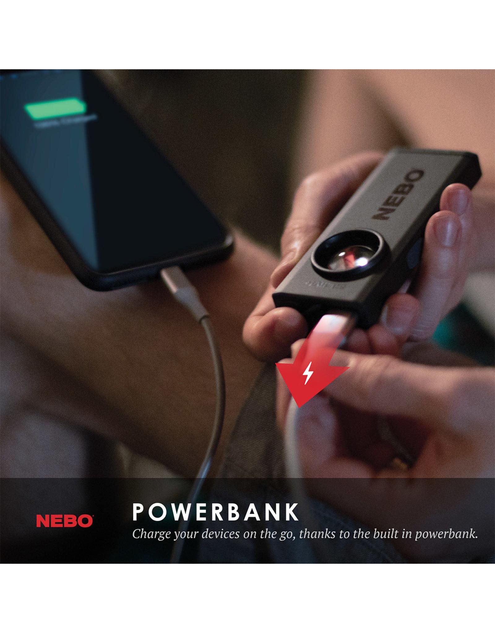 Nebo Slim Plus Rechargable Flashlight and Powerbank