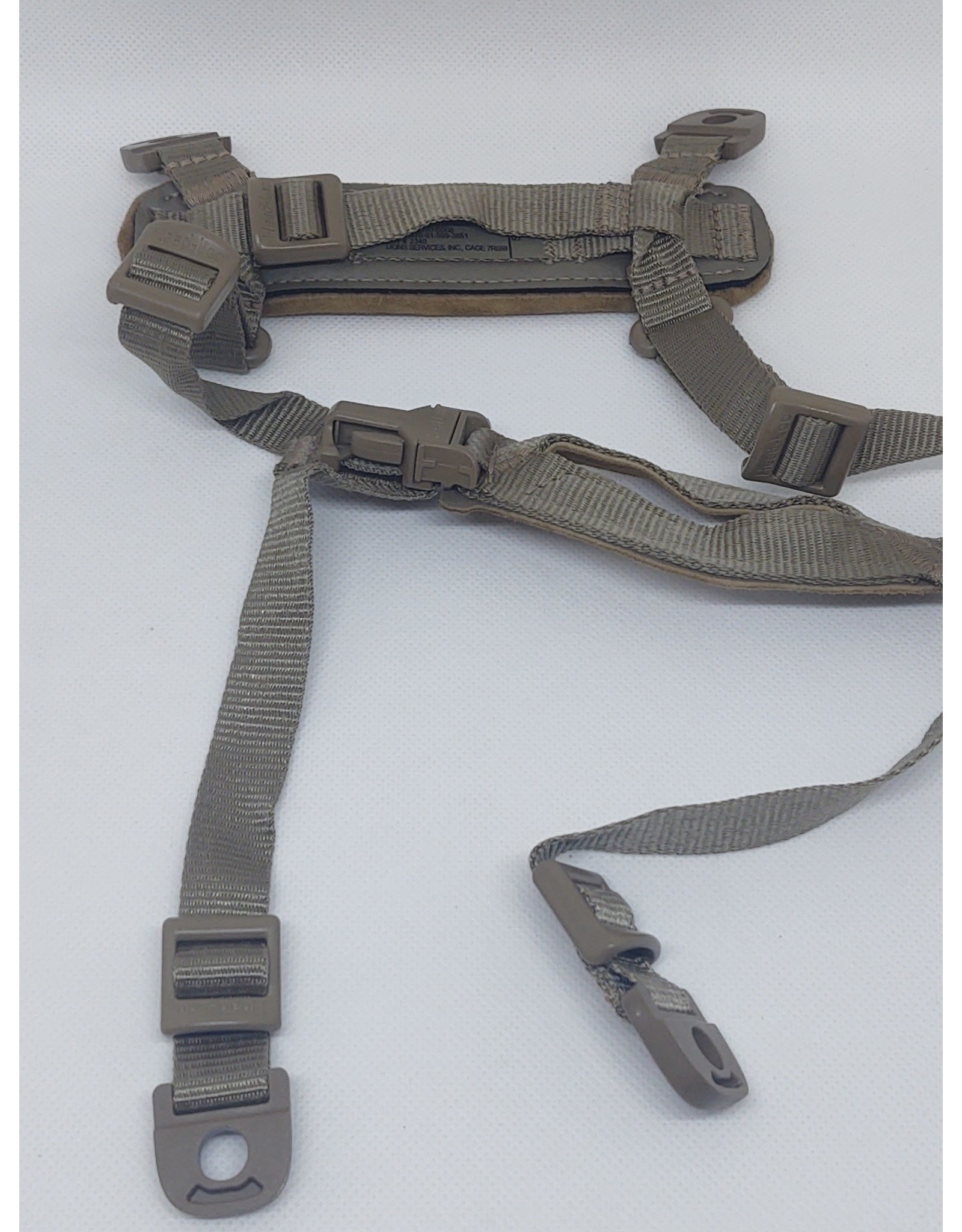 Chinstrap, for ACH & ECH in  Coyote Tan w/ Hardware