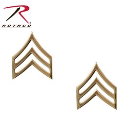 Gold Pin On Rank (E5) SGT - Sargeant