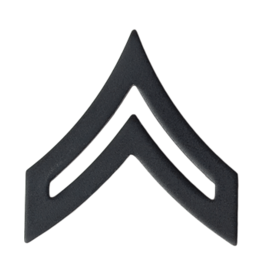 Black Pin On Rank (E4) CPL - Corporal
