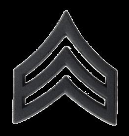 Black Pin On Rank (E5) SGT - Sergeant