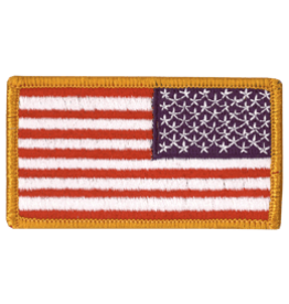 Reverse US Flag Patch Full Color W/Hook