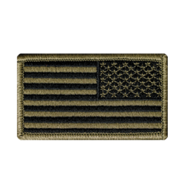 Reverse US Flag Patch Scorpion Subdued W/Hook