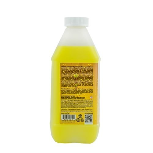 Chemical Guys Canada WAC21564 - Blazin' Banana Natural Carnauba Spray Wax (64 oz - 1/2 Gal)