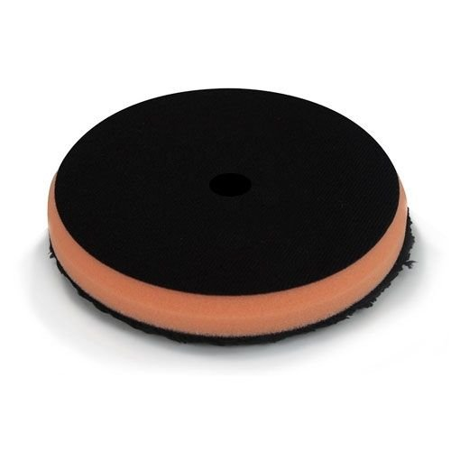 Hex-Logic BUFX_302_5 - Black Optics Microfiber Orange Cutting Pad (5.5'')