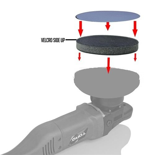 Chemical Guys Canada CLY_530 - Clay Eraser Disc Interface Pad & Holder - 6 inch