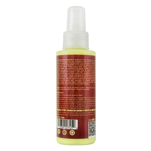 Chemical Guys SPI21604 - Leather Quick Detailer, Matte Finish Leather Care Spray (4 oz)