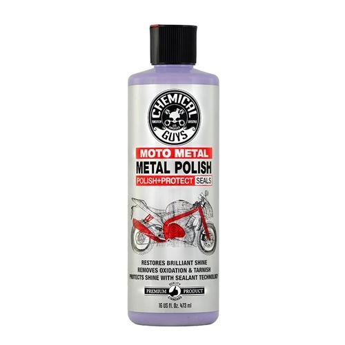 Chemical Guys Canada MTO10616 - Metal Polish Cleaner, Polish & Protectant for Motorcycles (16 oz)