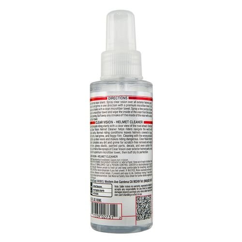 Chemical Guys Canada MTO10304 - Clear Vision Streak Free Helmet Cleaner & Protectant (4 oz)
